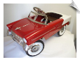 1955 Classic Pedal Car Red-White