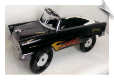 1955 Classic Pedal Car Black With Flames