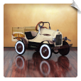Deluxe Woody Delivery Truck Pedal Car