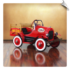 Deluxe Vintage Delivery Truck Pedal Car Red