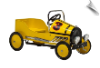 Retro Pedal Car Yellow